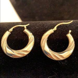 Carla 14k Solid Gold Rope Hoop Earrings